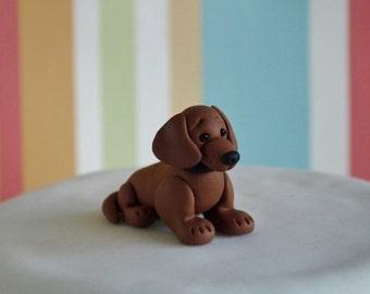 Sausage Dog Cake Decorations : Dachshund topper Etsy