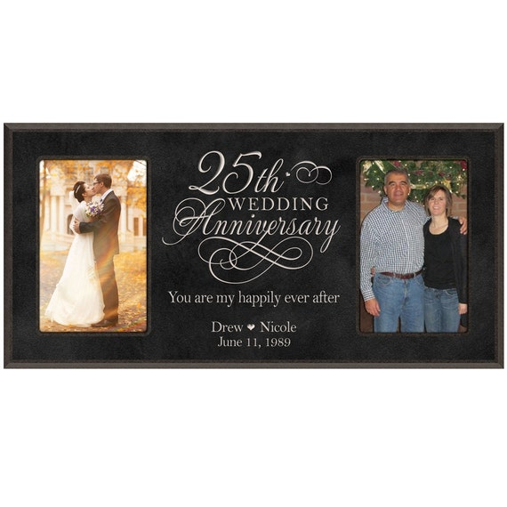 25th Wedding Anniversary Photo Frame Personalizied 25th Anniversary Wedding Gift For Him 25th