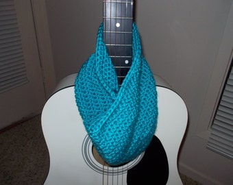 Teal blue neck warmer