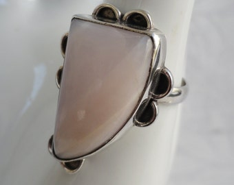 Pink Lace Agate Ring | Size 5.5 | 925 Sterling Silver | Calm Stress & Anxiety | Free Shipping And Gift Box/Bag