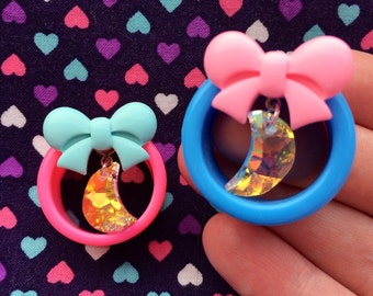 Bow and Moon Crystal Tunnels- 24mm,25mm,26mm,28mm,30mm,32mm