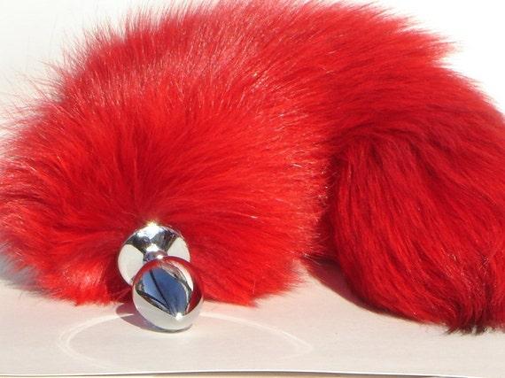 Mini Red Fox Tail Butt Plug Fetish Wear Neko Cosplay By -8070