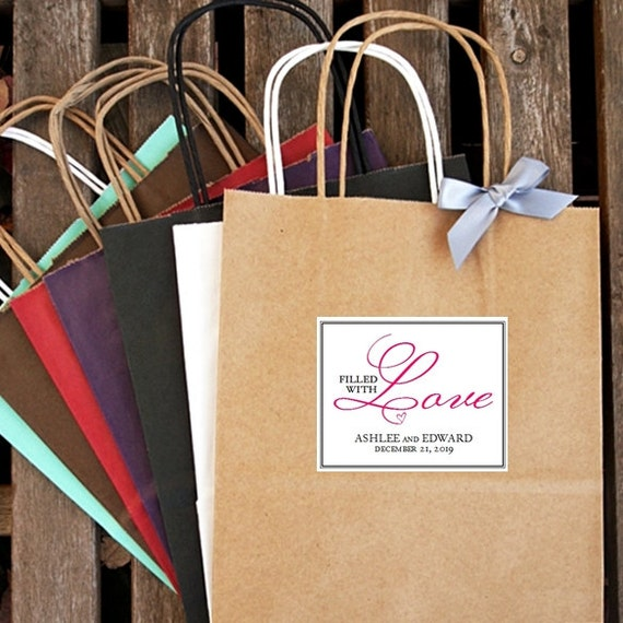 Unique Wedding Welcome Bag Ideas: Items Similar To Personalized Filled With Love Wedding