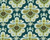Amy Butler Limited Quantity - French Wallpaper in Spruce PWAB111 Spruce 1 Yard, Fresh & Fabulous!