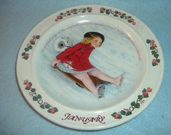 1985 Newell Pottery January by Sarah Stilwell Weber Calendar Collection Plate