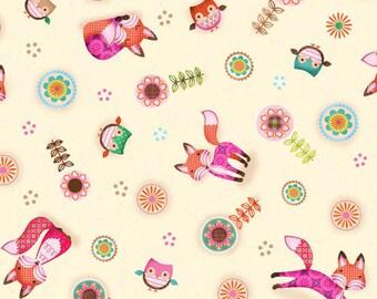 SPX Fabrics Friendly Forest Foxes (Half metre)
