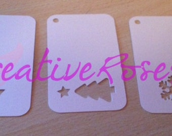 Christmas tags perforated