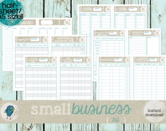 A5 Small Business Planner Kit: Inventory Lists, Sales Log, Expense List + Much MORE!  Instant Download!!