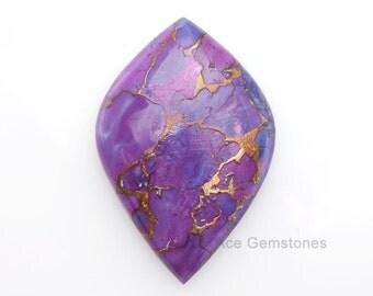 Stunning Copper Purple Turquoise Fancy Wholesale Loose Gemstone Flat Back Cabochons - 1 Pcs.