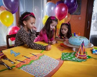 Signable Keepsake Birthday Tablecloth