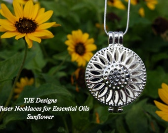 Open Diffuser Necklace-Sunflower-Diffuser Necklace-Diffuser Felts