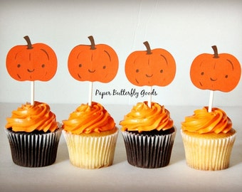 Thanksgiving/ Fall/ Autumn Cupcake Toppers