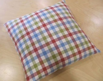 Carnival Check Feather Cushion