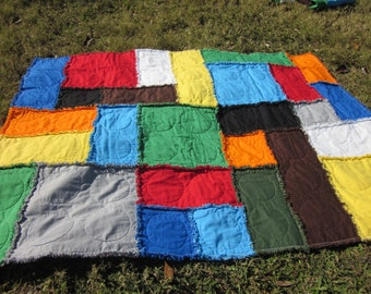 Lego Throw Pillow And Blanket Set : Lego blanket Etsy