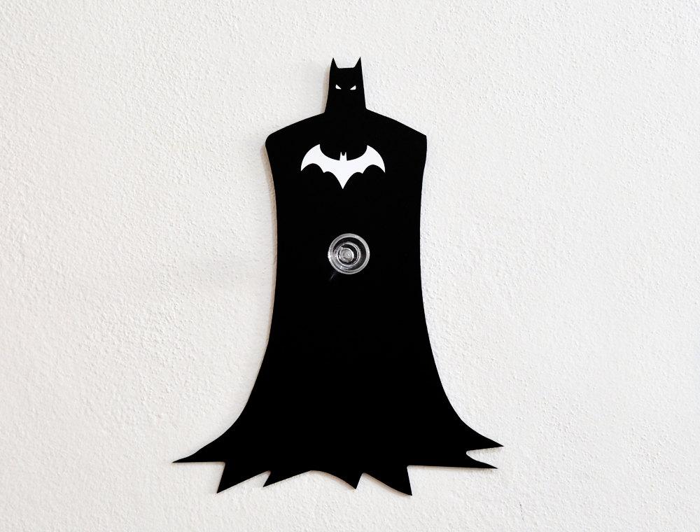 Batman Silhouette Wall Hook / Coat Hook / Key by SolPixieDust Batman Silhouette