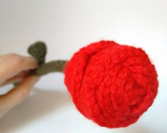 Handmade crochet rose flower - READY TO SHIP -