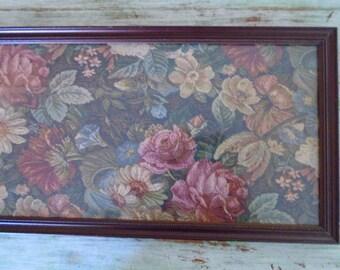 Vintage Floral Print Framed