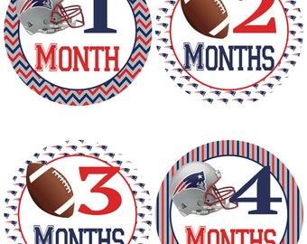 New England Patriots Baby Belly Stickers ~  Monthly Baby Stickers (343)
