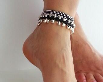 Belly dance anklet Boho ankle bracelet Hippie anklet, Gypsy ankle bracelet, Bells, Hippy jewelry,  bell charm ankle bracelet
