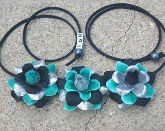 Stormy Seas Flower Halo/  Flower Headband/Crown/Halo