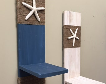 Set of two Beach-y wall hangings/shelves