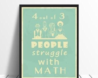 Maths Poster - Statistics Joke, Printable