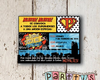 Superhero Party Printable Invitation