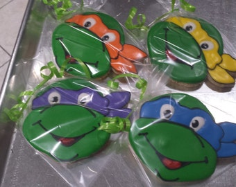 teenage mutant ninja turtle cookies