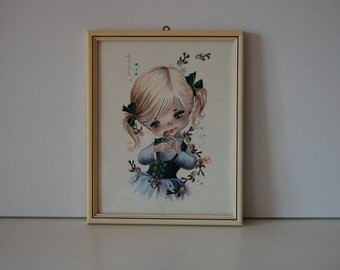 Fallarda girl with bird painting