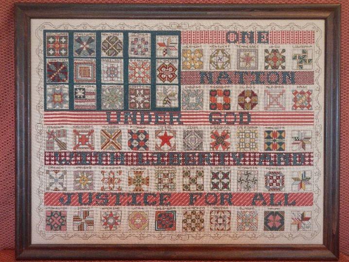 rosewood manor quotamerican flag quilt samplerquot cross