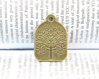 Antique Brass Tree Charm  31*22mm  Tree of Life Charm pendant Jewelry Finding