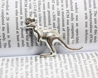 Kangaroo charms ( double sided ) 32*39mm antique silver tone Kangaroo charms pendants