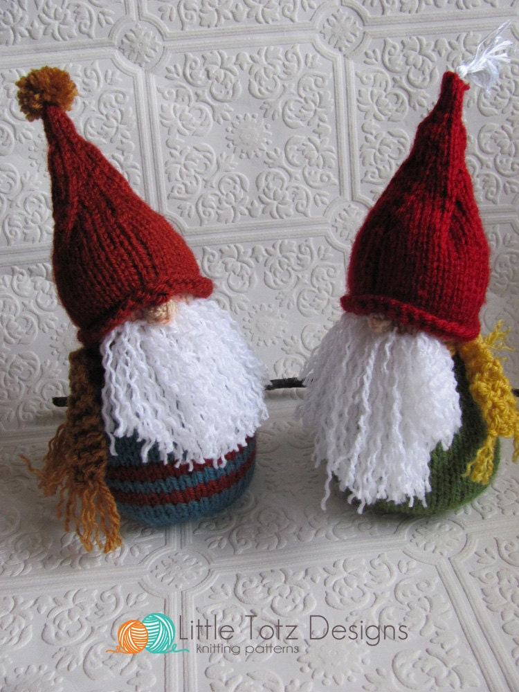 Knitting Pattern For Gnome Hat : Gnome Knitting Pattern