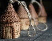 Miniature house Ceramic Bell Rustic Tiny Houses Handmade Bells Ceramic houses Collection Little house Home decoration Collection Little bell