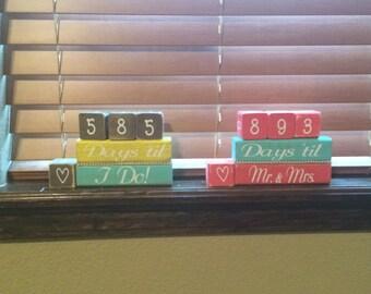 Countdown blocks / wedding blocks / days until