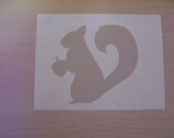 Squirrel decal, car decal, laptop decal, wall decal