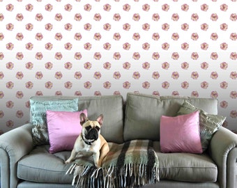 Pink Primrose Stud Self Stick Wall Paper
