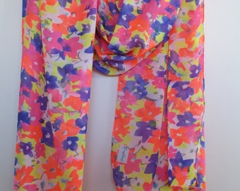 Summer Scarf - floral bright