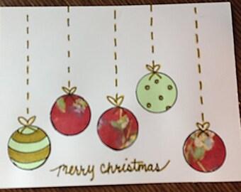 Decorative ornament handmade card (holidays, Christmas, etc.)