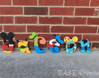 Mickey Mouse Clubhouse Wooden Letters/birthday decorations