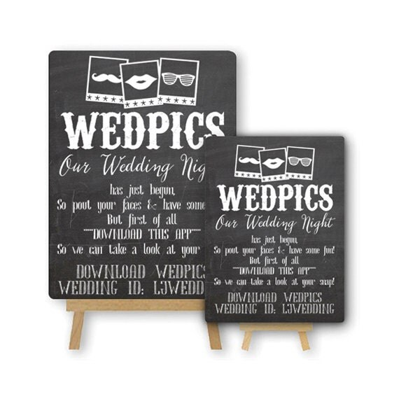 Items Similar To Personalised WedPics App Photo Booth