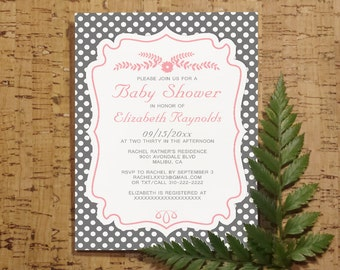 Retro Baby Shower Invitation Template| Girl Baby Shower Invitations | Boy Baby Shower Invites | Neutral Party, Printable, Digital PDF, DIY