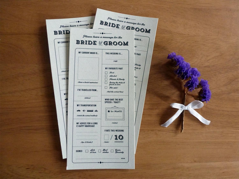 Wedding Gift Quiz : Printable Wedding Table Quiz & Survey Alternative guestbook