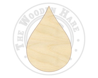 Teardrop Cutout Shapes - 170264 - Unfinished wood, Various sizes, Wood Craft Shapes