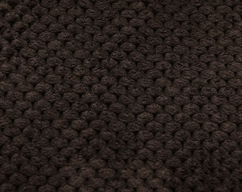 Luxury Velvet Dimple Chocolate SR16136 Upholstery / Curtain Fabric by the metre.