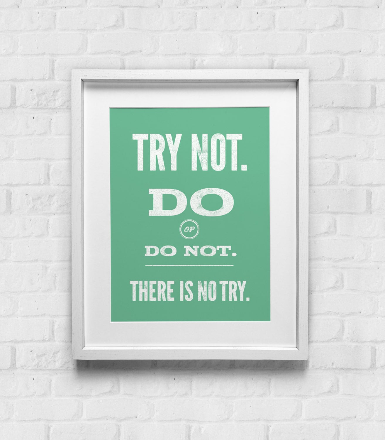 Yoda Quote Try Not: Star Wars Quote Yoda Typographic Poster Wall Art