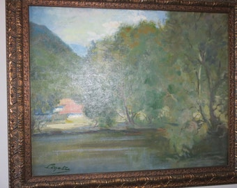 ANTIQUE PAINTING by Antal Ligeti (1823-1890) Aliases: Anton Ligeti