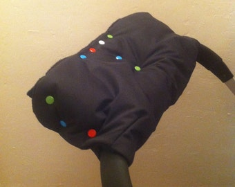 Handmuff - for pushchair - fits all pushchairs with one single handle bar- Bugaboo, Quinny, Uppababy and more!