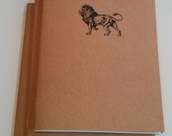 Lion Mini Notebook - diary, journal, party favors, multipack, regal, custom printing included