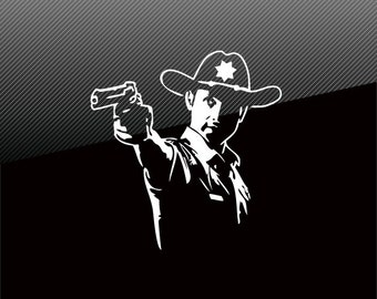 The Walking Dead RICK GRIMES Vinyl Decal Sticker